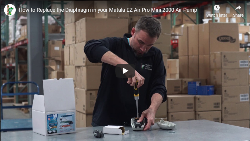 How to Replace the Diaphragm in your Matala EZ Air Pro Mini 2000 Air Pump
