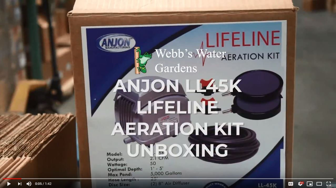 Anjon LL-45K Lifeline Pond Aeration Kit - Unboxing