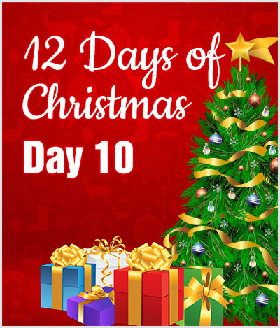 advert 12 days of christmas day10