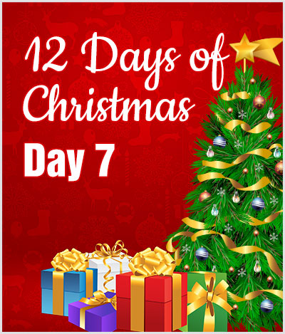 advert 12 days of christmas day7