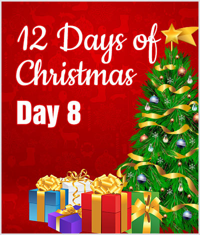 advert 12 days of christmas day8