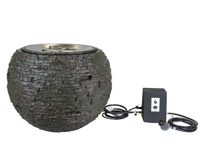 Aquascape Fire and Water Stacked Slate Sphere – Medium