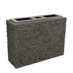Aquascape Straight Stacked Slate Walls