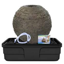 Aquascape Medium Stacked Slate Sphere Landscape Fountain Kit