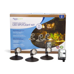 Aquascape LED Pond and Landscape Spotlight Kit - 3 x 1 watt Lights