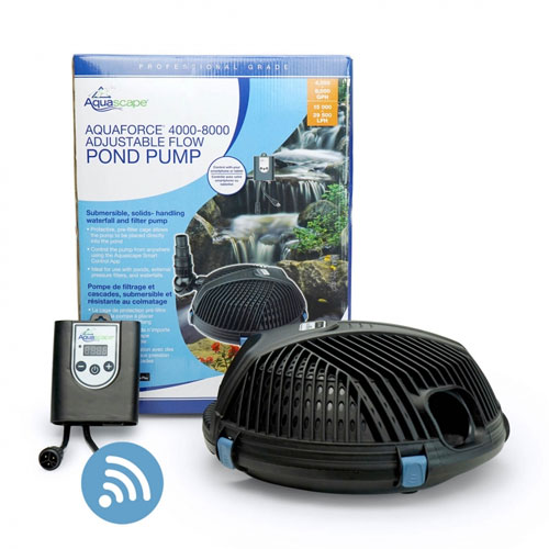 Aquascape AquaForce 4000-8000 Adjustable Flow Solids-Handling Pond Pump