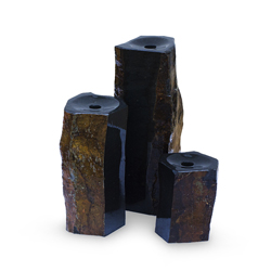 Aquascape 3 Semi-Polished Stone Basalt Columns