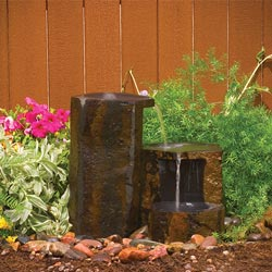Aquascape Set Of 3 Keyed Basalt Columns