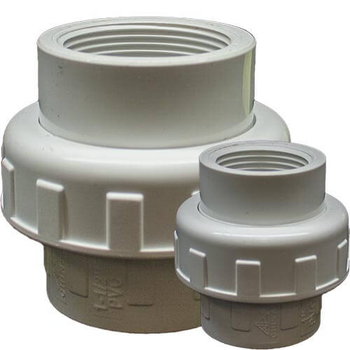 Dura Schedule 40 PVC Union Fittings (Slip x FIPT)