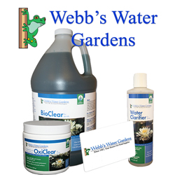 ALL WEBB'S WATER GARDENS PRODUCTS