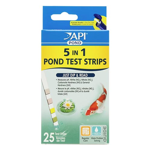 API Pond 5 in 1 Pond Test Strips 25count (MPN 164F)