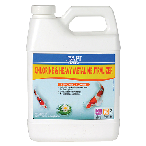 API Pond Chlorine & Heavy Metal Neutralizer 32 oz. (MPN 141G)