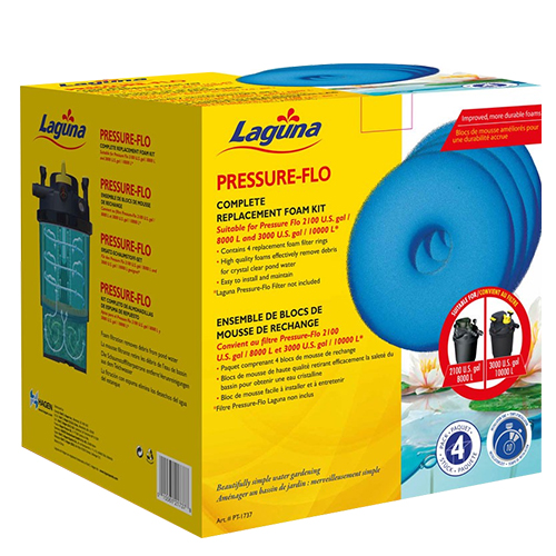 Laguna Replacement Foam for Pressure Flo 2100 & 3000 (Pack of 4) (MPN PT1737)