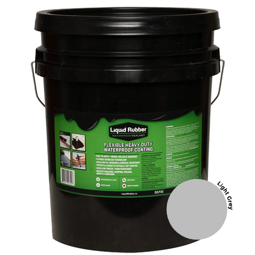 Liquid Rubber Waterproof Sealant Light Grey 5 gal