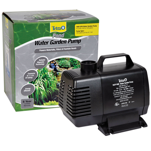 Tetra water garden pump 1900 gph mpn 26589 best prices for Best pond pump for small pond