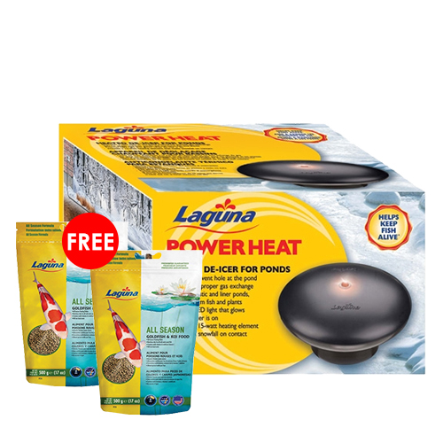 Laguna Power Heat De-Icer 315 watts with 2 FREE Laguna All Season Floating Food 17 oz. (MPN PT1642)