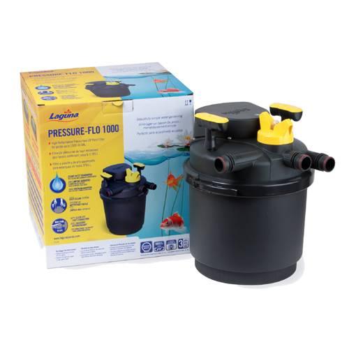 Laguna pressure flo 1000 high performance pressure filters for Best pond filter media