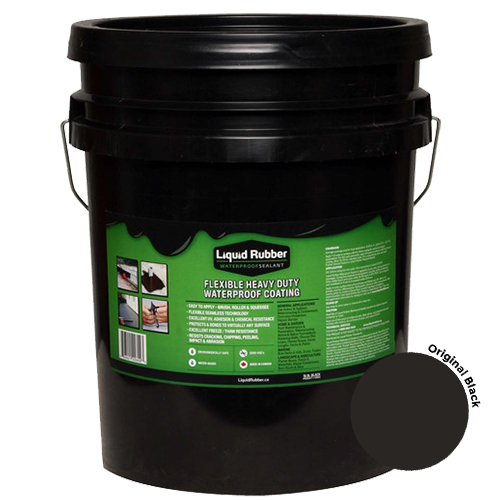 Liquid Rubber Waterproof Sealant Original Black 5 gal
