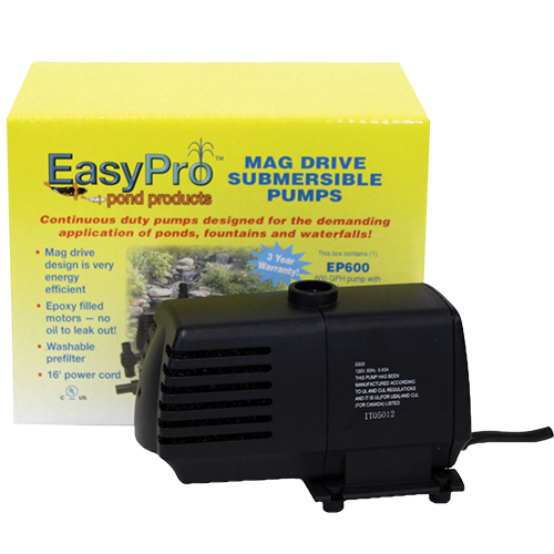 EasyPro Submersible Magnetic Drive Pump 600 GPH (MPN EP600)