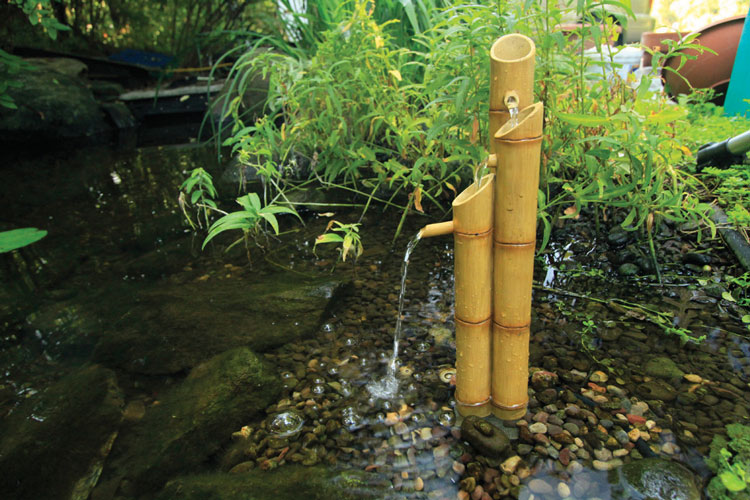 Aquascape Pouring Three-Tier Bamboo Fountain w/pump (MPN 78015)