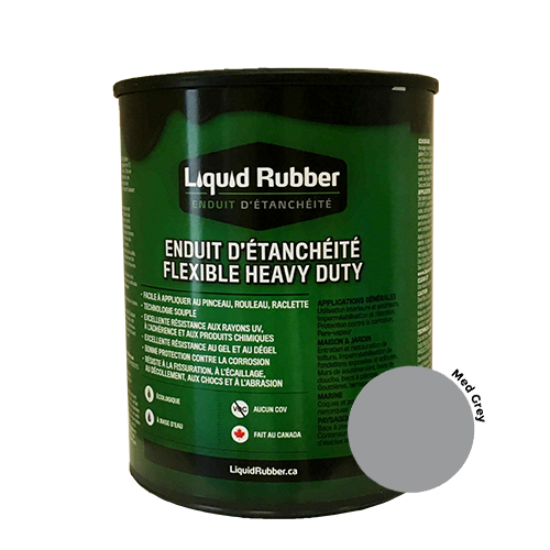 Liquid Rubber Waterproof Sealant Medium Grey 32 oz.