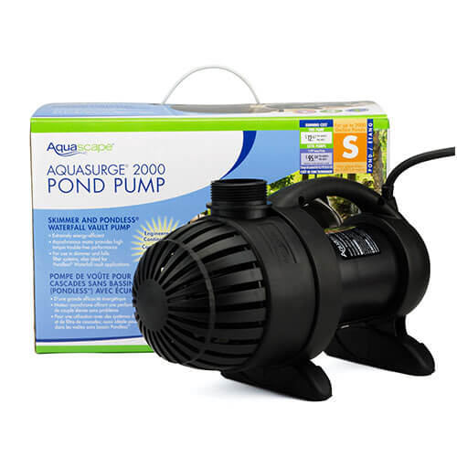 Aquascape aquasurge 2000 pump mpn 91017 best prices on for Best water pump for pond