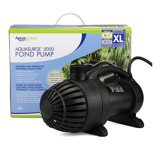 Aquascape aquasurge 5000 pump mpn 91020 best prices on for Garden pond pump setup