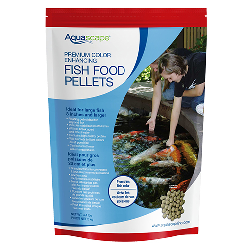 Aquascape premium color enhancing fish food large pellet for Fish food for pond fish