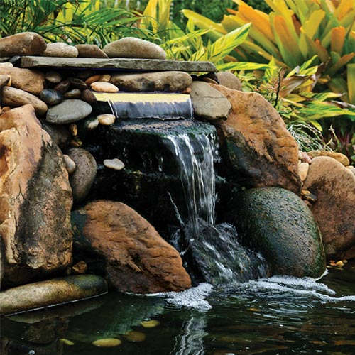"Pond Boss Lighted Waterfall LED Spillway 12"" white (MPN DILM12W)"