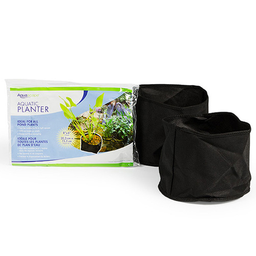 "Aquascape Fabric Plant Pot 8"" Round x 6"" Deep (2 Pack) (MPN 98502)"