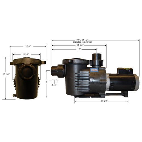 PerformancePro 1 HP ArtesianPro High Flow Pump (MPN AP1-HF-C-2)