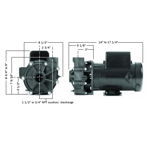 PerformancePro 2 HP Cascade High RPM Pump (MPN C-2)