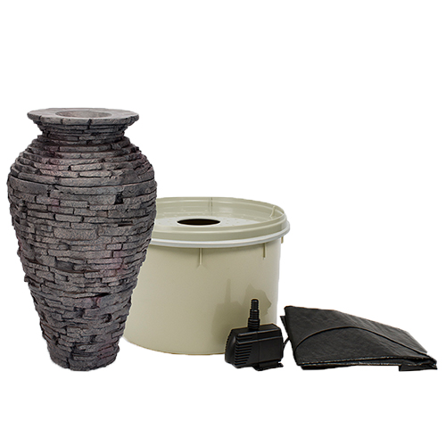 Aquascape Stacked Slate Urn - Small Kit (MPN 58064)