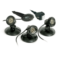 Atlantic 3 Pack SOL LED Pond Lights w/transformer (MPN AWGLED3)
