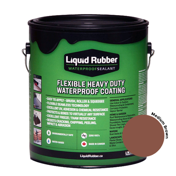 Liquid Rubber Waterproof Sealant Medium Brown 1 gal
