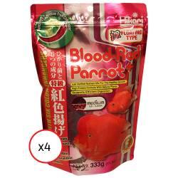 Hikari Blood Red Parrot+ Medium Pellet 11.7 oz (4 pack) (MPN 16333)