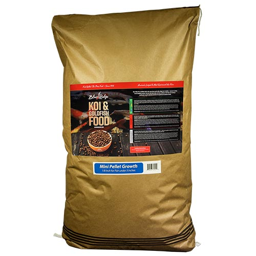 Blue Ridge Floating Mini Pellet Growth Fish Food 50 lbs