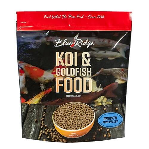 Blue Ridge Floating Mini-Pellet Growth Fish Food 5 lbs