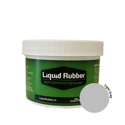 Liquid Rubber Waterproof Sealant Light Grey 8 oz.