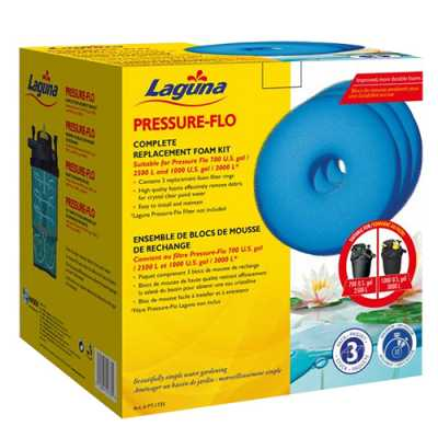 Laguna Replacement Foam for Pressure-Flo 700 & 1000 (Pack of 3) (MPN PT1735)