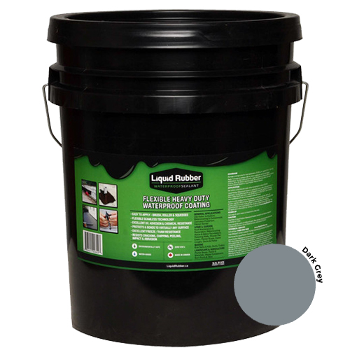 Liquid Rubber Waterproof Sealant Dark Grey 5 gal