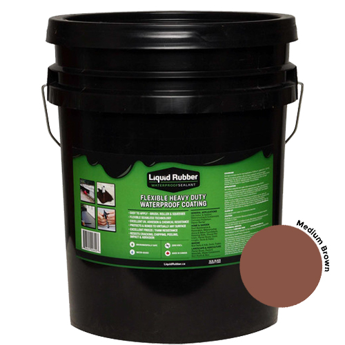 Liquid Rubber Waterproof Sealant Medium Brown 5 gal