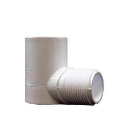 """PVC Street Elbow 1"""" (mpt x slip) (MPN STL10T)"""