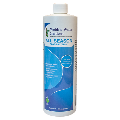 27539 - Webb's Water Gardens All Season Pond Bacteria 16 oz. (MPN 27539)