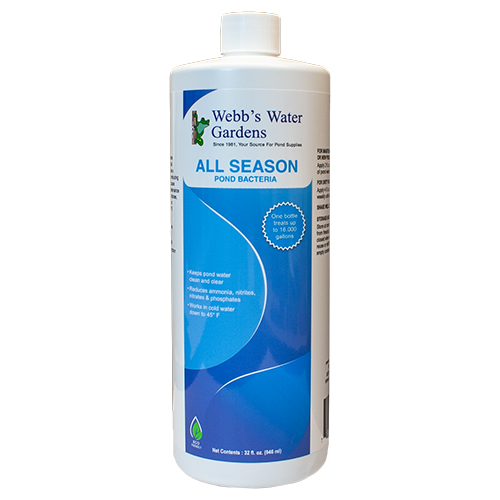 Webb's Water Gardens All Season Pond Bacteria 32 oz. (MPN 27546)