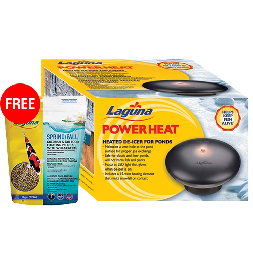 41642 - Laguna Power Heat De-Icer 315 watts with FREE Laguna Spring/Fall Wheat & Spirulina Floating Food 2.2 lb. (MPN PT1642)