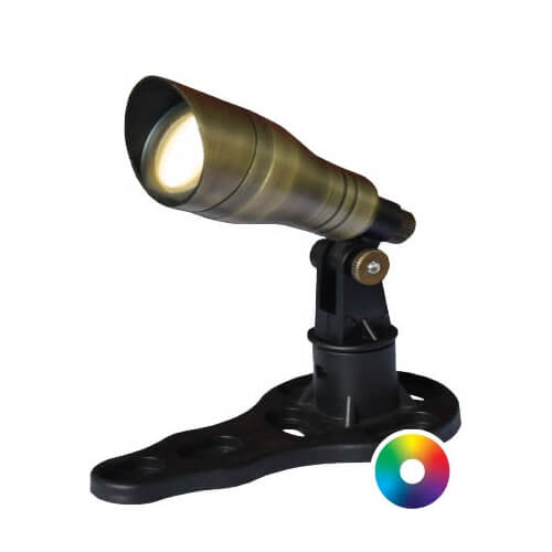 Anjon Manufacturing 3 Watt LED Color-Changing Brass Spotlight (MPN 3WCC)