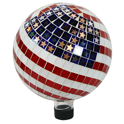 "Alpine 10"" Mosaic American Flag Gazing Globe (MPN GRS688)"