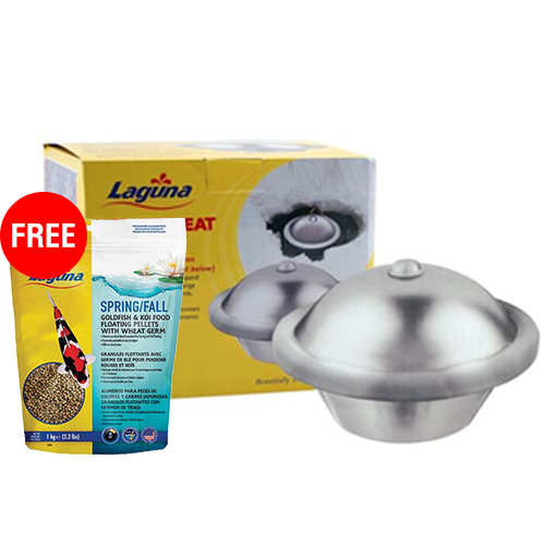 41643 - Laguna Power Heat De-Icer 500 watts with FREE Laguna Spring/Fall Wheat & Spirulina Floating Food 2.2 lb. (MPN PT1643)