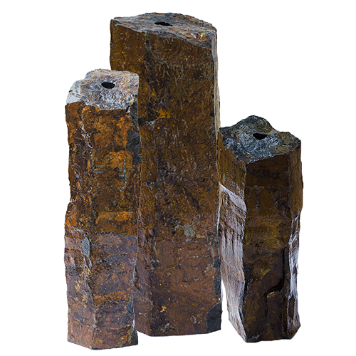 "Aquascape Natural Mongolian Basalt Column 3 PC Set - 24"", 30"", 36"" (MPN 58062)"
